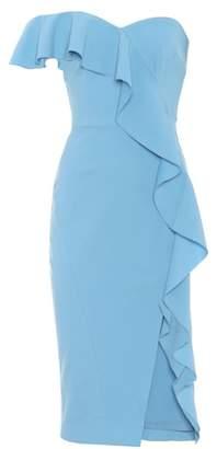 Rebecca Vallance Ruffled crêpe midi dress