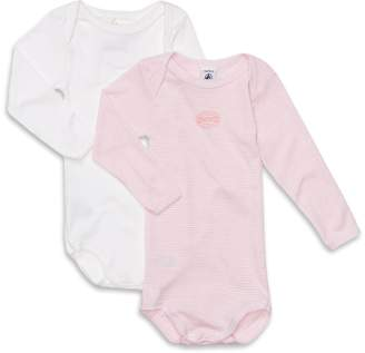 Petit Bateau Long-Sleeved Bodysuits 2 Pack