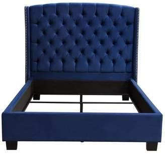 Diamond Sofa Majestic Tufted Upholstered Panel Bed