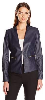 Jones New York Women's Blazer with Zips $50.54 thestylecure.com