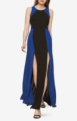 BCBGMAXAZRIA Angela Colorblocked Gown
