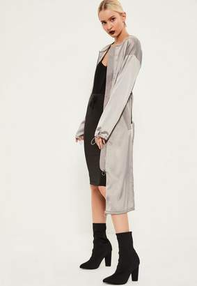 Grey Utility Silky Duster Coat $88 thestylecure.com