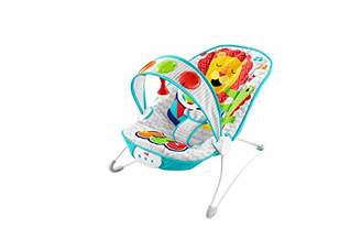 Fisher-Price Kick and Play Musical Bouncer, New-born Baby Bouncer and Chair with Removable Toy Bar and Calming Vibrations, Music, Lights and Sound