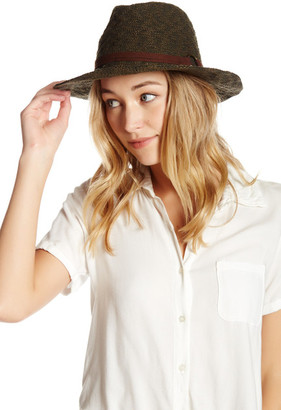 Collection XIIX Faux Suede Banded Solid Panama Hat $32 thestylecure.com