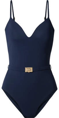 Tory Burch Belted Swimsuit - Navy