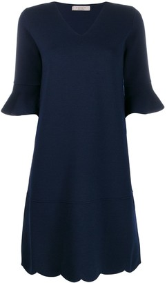 D-Exterior D.Exterior ruffled sleeve midi dress