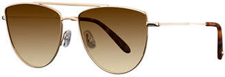 Garrett Leight Zephyr Side-Shield Gradient Sunglasses