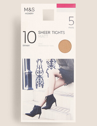Marks and Spencer 5 Pair Pack 10 Denier Tights