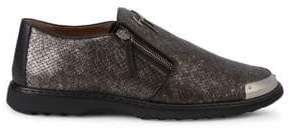 Giuseppe Zanotti Embossed Leather Loafers