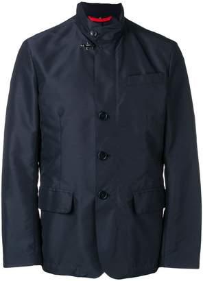 Fay high collar single-breasted jacket