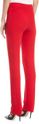 Valentino Side-Zip Silk Cady Skinny-Leg Pants
