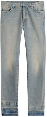 Maison Margiela Cotton Slim Jeans with Contrast Cuffs
