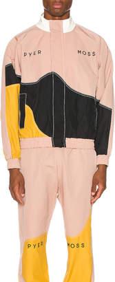 Pyer Moss Logo Wave Track Jacket in Pink & Gold & Black | FWRD