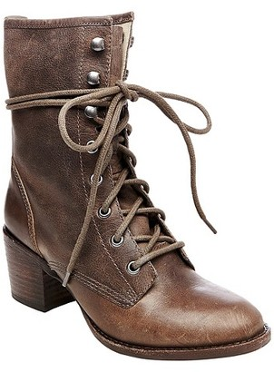 Soho Cobbler Women's Cameliah Leather Trooper Boots $99.99 thestylecure.com