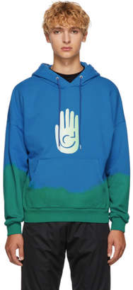 Cottweiler Blue and Green Cave Hoodie