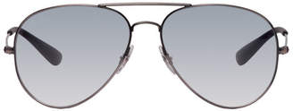 Ray-Ban Black and Blue Aviator Sunglasses