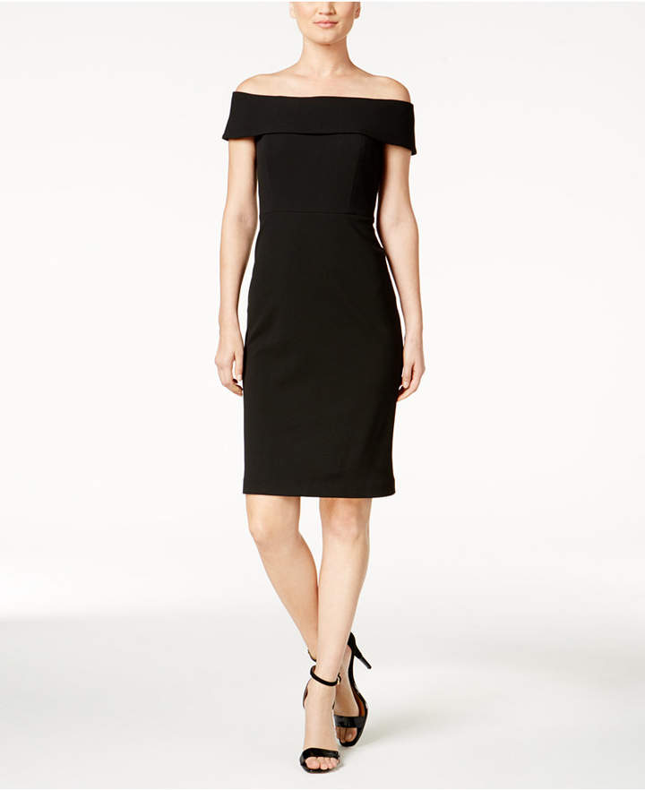 Calvin Klein Off-The-Shoulder Dress, Regular & Petite Sizes