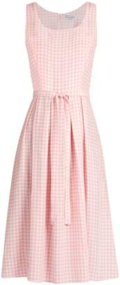 HVN Jordan gingham sleeveless dress $587 thestylecure.com