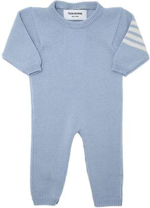 Thom Browne Cashmere Romper With Intarsia Stripes