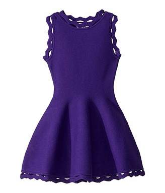 Milly Zigzag Trim Flare Dress (Toddler/Little Kids)