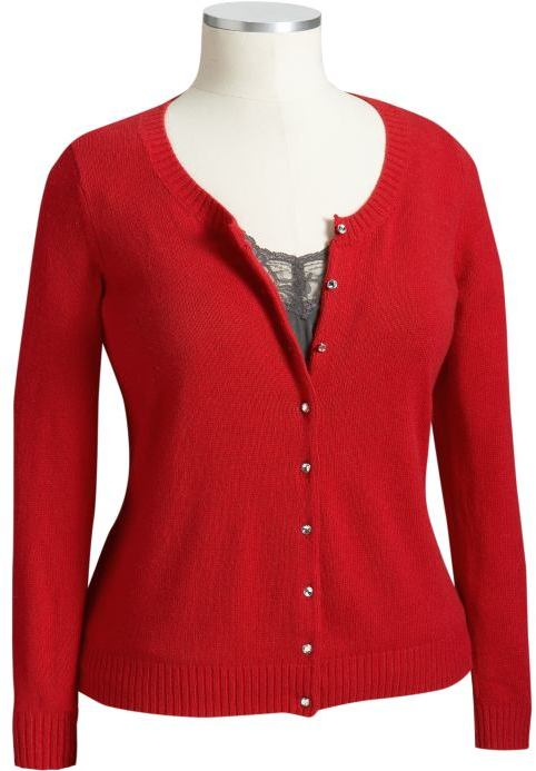 Women's Plus Softest Faux-Gem Button Cardigans