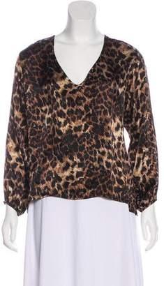 Karina Grimaldi Silk Long Sleeve Top
