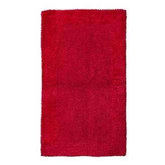 "QltyFrst Bath Mat Reversible 100% Premium Cotton 1900 GSM Size 21""x34"" Bathroom Mats Luxurious Bath Rug Extra Plush Absorbent Red"