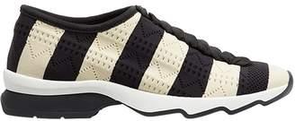 Fendi striped open work sneakers