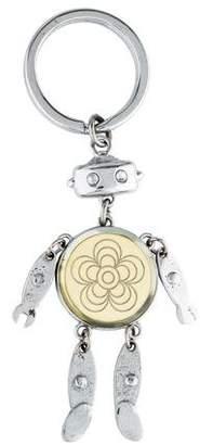 Prada Robot Embellished Keychain
