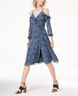 Michael Kors MICHAEL Cold-Shoulder Wrap Dress