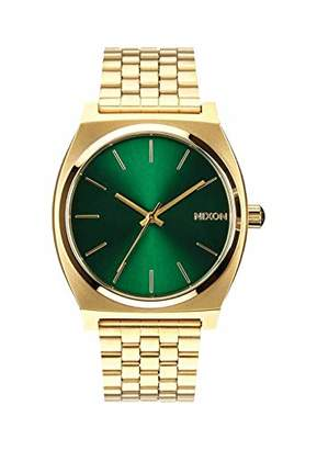 Nixon Time Teller A052 - Gold/Green Sunray - 107M Water Resistant Men's Analog Fashion Watch (37mm Watch Face
