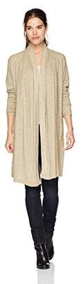Michael Stars Women's Madison Brushed Jersey Long Sleeve Shawl Collar Cardigan