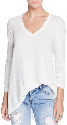 Free People Anna Long-Sleeve Tee $58 thestylecure.com