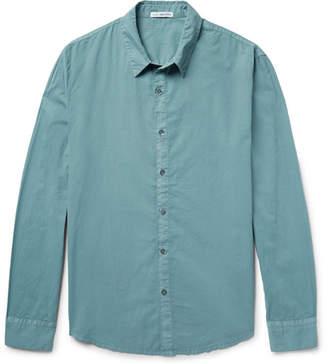 James Perse Cotton-Poplin Shirt - Men - Gray green