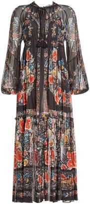 Roberto Cavalli Printed Cotton Maxi Dress