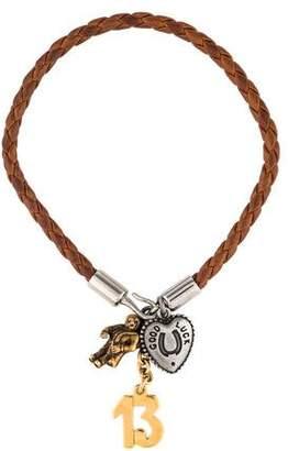 Dolce & Gabbana Leather Charm Bracelet