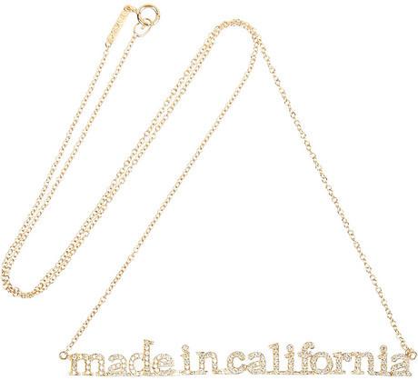 Jennifer Meyer + Wear LACMA Made In California 18-karat gold diamond necklace