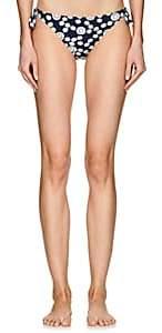 Kisuii Women's Daisy Side-Tie Bikini Bottom - Navy