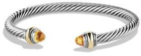 David Yurman Cable Classic Bracelet with Citrine and Gold $625 thestylecure.com