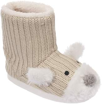 Trespass Childrens Girls Sootie Teddy Bear Slipper Boots