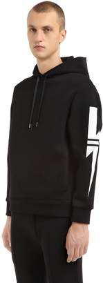 Neil Barrett Neoprene Hooded Sweatshirt W/ Bolts