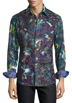 Robert Graham Limited Edition Embroidered Sport Shirt, Multi Colors $398 thestylecure.com
