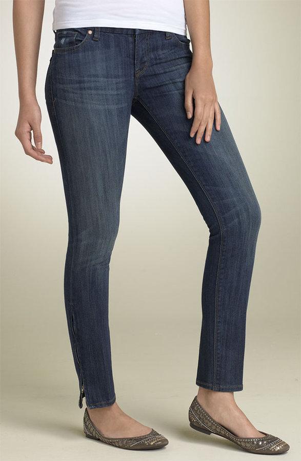 !iT JEANS Zip Hem Ankle Stretch Jeans (Juniors)