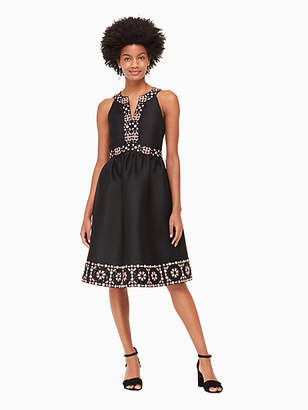 Kate Spade Mosaic embellished midi dress