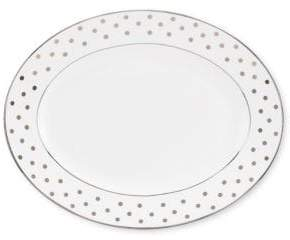 Kate Spade Larabee Road Platinum-Accented Bone China Oval Platter