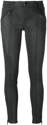 Calvin Klein Jeans zipped ankle skinny jeans $148 thestylecure.com