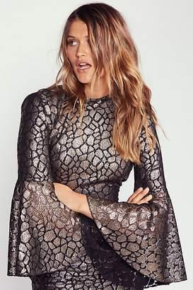 Rebecca Vallance Mireya Flare Sleeve Midi Dress