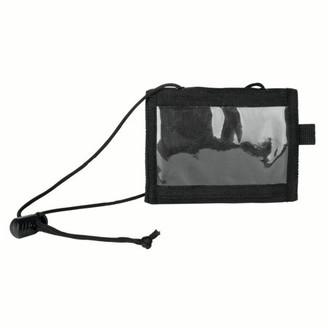 Stansport Folding Wallet with Adjustable Neck Drawstirng - Black