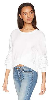 Pam & Gela Women's Crossover Front Crop Sweatshirt