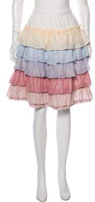 Marc Jacobs Ruffled Knee-Length Skirt